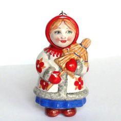 """Подарки: Ёлочная игрушка """"Февраль"""" (коллекция """"Двенадцать месяцев""""). """"Ярославская майолика"""""""