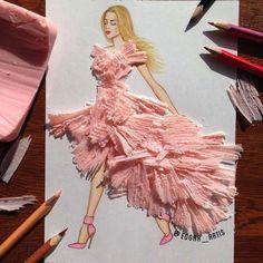 Creative Fashion design Illustration by Armenian artist Edgar Art Floral, Art And Illustration, Arte Fashion, Fashion Fashion, Kleidung Design, Fashion Design Drawings, Fashion Sketches, Creative Artwork, Everyday Objects