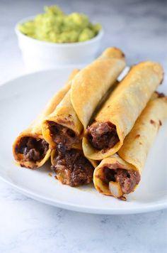 Cheesy Chorizo & Black Bean Taquitos