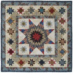"""Mathematical Star with Variable Star borders (9.5x9.5""""), Inspired by a Maryland quilt c. 1830-45. ninepatchstudio.com"""