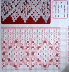 Filet Crochet, Crochet Lace Edging, Crochet Borders, Crochet Stitches, Crochet Hooks, Crochet Patterns, Crotchet, Knitting Needles, Doilies