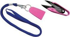 Dura Snips Squeeze Style Thread Snips 4 3/4in Pink & Black
