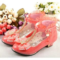 Tangerine Patent Leather Low Heel T Strap Pageant Party Girls Shoes SKU-133354