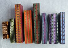 BJ's Polymer Clay Border Canes by auntgriz, via Flickr - Bette Jo Hendershott