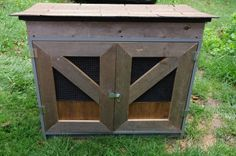 Making a chicken coop out of an old desk!