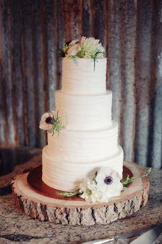 Mandy & Pete's Wedding. Vista West Ranch {3.17.12} ---- Rustic Wedding Cake.
