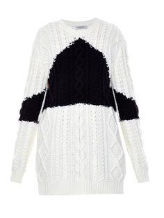 Wool and cashmere-blend aran-knit sweater | Valentino | MATCHESFASHION.COM