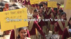 Gender Equality Can't Wait