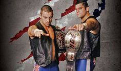 ROH Tag Team Champions The American Wolves - Davey Richards and Eddie Edwards
