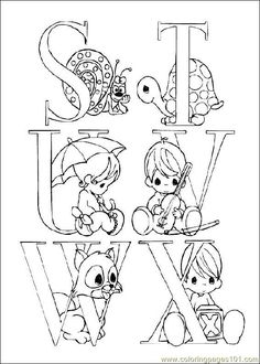 Coloring Pages Preciousmoments 04 (Cartoons > Precious moments) - free printable coloring page online