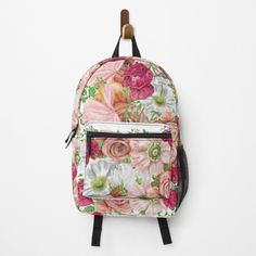 """Roses and Poppies"" Backpack by cheriedirksen 