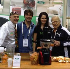 Juicing up a storm with @Jay Kordich @UpayaNaturals  and @Grayson Van Sickle using our @Tribest Life juicers! #juicing #health