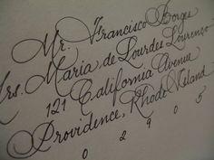 Calligraphy letter address envelope