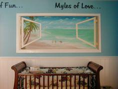 beach themed office | Buena Park Myle's of Beach Nursery Window - Mural Albums in Buena Park ...