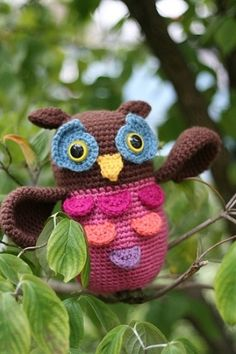 crochet owl pattern by pearlie