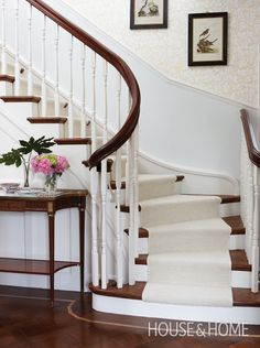 Gorgeous Curved Staircase | Photo Gallery: Sarah Richardson Designs | House & Home | Photo by Stacey Brandford