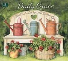 Legacy Publishing Group, Inc. Legacy of Faith 2015 Wall Calendar with Scripture, Daily Grace by Beth Yarbrough Decoupage Vintage, Decoupage Paper, Vintage Art, Garden Painting, Painting On Wood, Garden Art, Wall Calender, Decoupage Printables, Foto Transfer