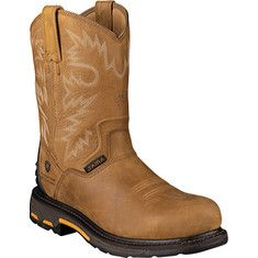 Men's+Ariat+Workhog+RT+H20+Composite+Toe+-+Rugged+Bark+Full+Grain+Leather+with+FREE+Shipping+&+Exchanges.+Rough+weather?+Work+doesn't+wait.+Waterproof+Pro's™+materials+and+