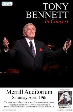 Tony Bennett in , Maine - April 19, 2014 at Merrill Auditorium - Waterfront Concerts