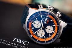 Men's SS IWC Schaffhausen Aquatimer LIMITED EDITION COUSTEAU DIVER Blue Watch BP | eBay