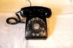 VINTAGE BELL SYSTEM ROTARY DIAL PHONE OLD BLACK WESTERN ELECTRIC BELL TELEPHONE - http://collectibles.goshoppins.com/radio-phonograph-tv-phones/vintage-bell-system-rotary-dial-phone-old-black-western-electric-bell-telephone/