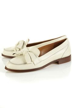 KEIRA Bow Leather Loafers $104.00