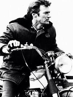 Clint Eastwood. triumph bike