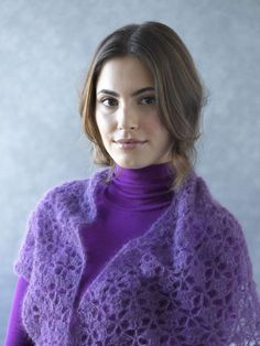 South Bay Shawlette (Crochet) from Lion Brand. Free pattern download
