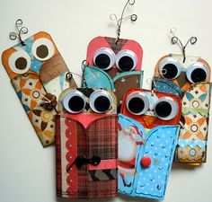 Mini Owl Post-it note holders for wise note takers.