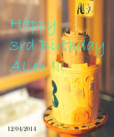 Simple castle tower cake