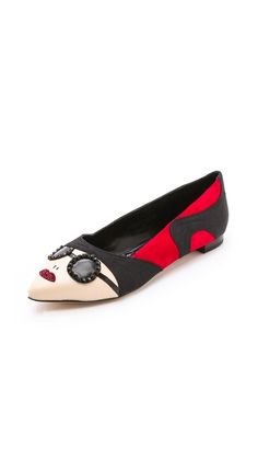 talk about the most amazing flats ever :: alice + olivia Stacey Face Flats