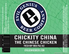 mybeerbuzz.com - Bringing Good Beers & Good People Together...: Evil Genius - Chickity China The Chinese Chicken F...