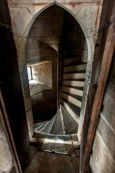 A Room Off of a Spiral Staircase