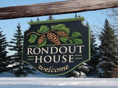 The hand sculpted pine cones and incise carved letters on this beautiful house sign make it unique. House Name Signs, House Names, Property Signs, House Property, Shop Signage, Signage Design, Dremel Tool Projects, Monument Signs, Cabin Signs