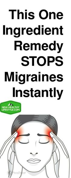 2-INGREDIENT REMEDY TO STOP MIGRAINES AND HEADACHES INSTANTLY! !!,