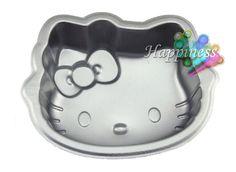 "6"" Hello Kitty Shape Kawaii Cute DIY Mini Home Metallic Party Cake Maker Mold"
