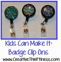 Give Pizzazz to Your Badge Reel! 5 Custom DIY Ideas | Jewelry ...