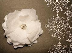 Felt Gardenia