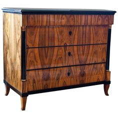 Biedermeier Chest of Drawers, Southern Germany, 1820s   From a unique collection of antique and modern commodes and chests of drawers at https://www.1stdibs.com/furniture/storage-case-pieces/commodes-chests-of-drawers/