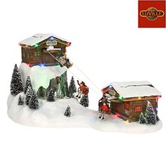 Lemax Toasty Caroling Holiday Village Lighted Fire