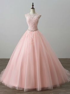 Pink Ball Gown Tulle Appliques Backless Long Sweet 16 Dresses Description Silhouetteball gown Hemlinefloor length Necklinescoop Fabrictulle Shown Colorpink Sleeve Stylesleeveless Back Stylelace up Embellishmentappliques Long Sweet 16 Dresses, Cute Prom Dresses, Ball Dresses, Elegant Dresses, Pretty Dresses, Formal Dresses, Pink Dresses, Pink Quinceanera Dresses, Sweet Sixteen Dresses