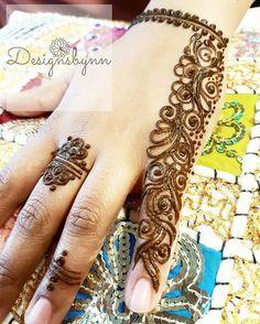 Simple henna ❤ - designsbynn.com Hena Designs, Henna Tattoo Designs, Henna Tattoos, Easy Henna, Simple Henna, Henna Plant, Mehndi Designs For Fingers, Henna Artist, Henna Patterns