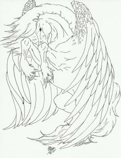This is a line art my mom drew and I thought maybe someone could find some use for it. Pegasus line art Farm Animal Coloring Pages, Unicorn Coloring Pages, Coloring Book Pages, Poppy Coloring Page, Horse Canvas Painting, Fantasy Drawings, Unicorn Art, Pegasus, Deviantart