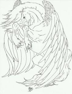 Pegasus line art by Kmsnead.deviantart.com on @deviantART