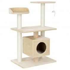 Archie & Oscar The Elvia cat tree is a big highlight for any cat.With it, your cats can sharpen their claws perfectly, ensuring your furniture stays intact. Cat Towers, Cat Tree, Toothbrush Holder, Creme, Minion, Stool, Furniture, Hobby, Archie