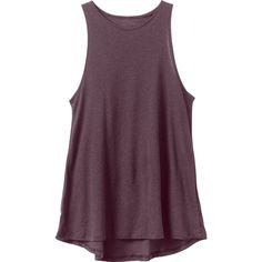 RVCA Women's  Label High Neck Tunic Top ($29) ❤ liked on Polyvore featuring tops, tunics, purple, purple top, high neckline tops, high neck top, fitted tops and purple tunic