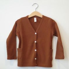 WS Ribbed cardigan [brown]  www.mintandpersimmon.com