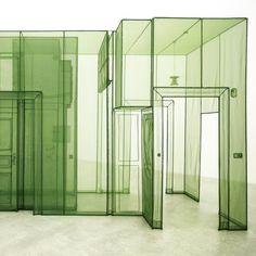 "#DoHoSuh: Passage opens at the Contemporary Arts Center, Cincinnati next Friday, February 12. @cincycac   Above: ""Wielandstr. 18, 12159 Berlin - 3 Corridors"" (detail), 2011 (at Contemporary Arts Center)"