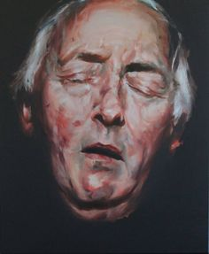 Buy Prints of contemporary death, a Oil on Canvas by karien deroo from Belgium. It portrays: Portrait, relevant to: portrait, fine art, oilpainting, alla prima, conceptual, dark, death, expression, face, figurative, impressionism, man An old man sleeping ... or is he dead? A conceptual portrait of death
