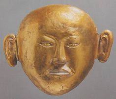 Burial mask Liao dynasty, 1018 or earlier From the tomb of the Princess of Chen and Xiao Shaoju Research Institute of Cultural Relics and Archaeology of Inner Mongolia